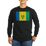 Saint Vincent and the Grenadi Long Sleeve Dark T-S