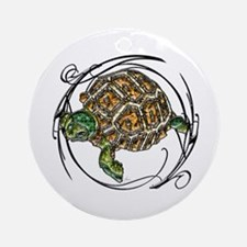 Gem Turtle Ornament (Round)
