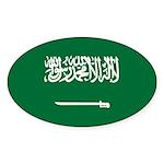 Saudi Arabia Sticker (Oval 10 pk)