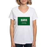 Saudi Arabia Women's V-Neck T-Shirt