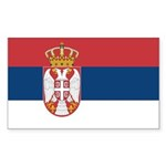 Serbia Sticker (Rectangle 10 pk)
