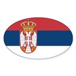 Serbia Sticker (Oval 10 pk)