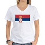 Serbia Women's V-Neck T-Shirt