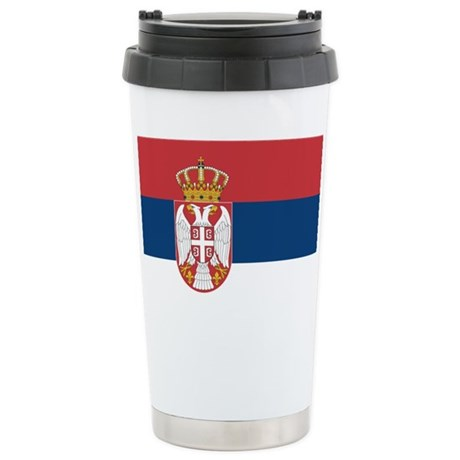 Serbia Stainless Steel Travel Mug