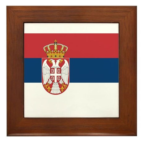 Serbia Framed Tile