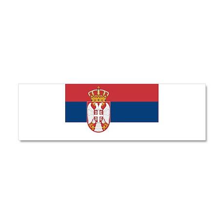 Serbia Car Magnet 10 x 3
