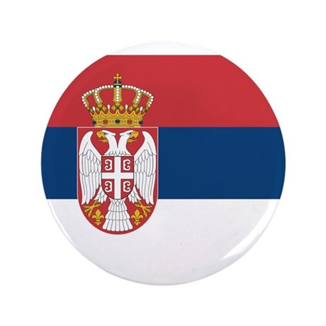 "Serbia 3.5"" Button (100 pack)"