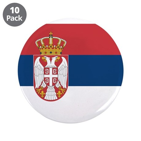 "Serbia 3.5"" Button (10 pack)"