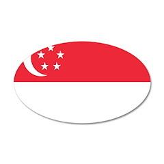 Singapore 22x14 Oval Wall Peel
