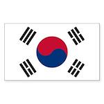 South Korea Sticker (Rectangle 10 pk)