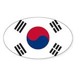 South Korea Sticker (Oval 10 pk)