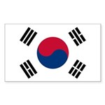 South Korea Sticker (Rectangle)