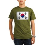 South Korea Organic Men's T-Shirt (dark)