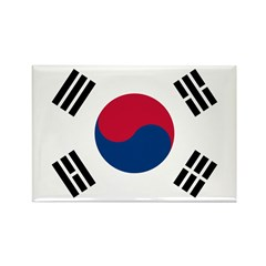 South Korea Rectangle Magnet (100 pack)