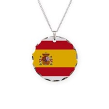 Spain Necklace Circle Charm