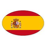Spain Sticker (Oval 50 pk)