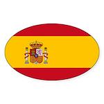 Spain Sticker (Oval 10 pk)