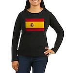 Spain Women's Long Sleeve Dark T-Shirt