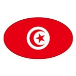 Tunisia Sticker (Oval 50 pk)
