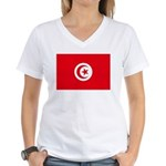 Tunisia Women's V-Neck T-Shirt