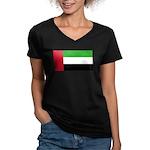 United Arab Emirates Women's V-Neck Dark T-Shirt