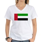 United Arab Emirates Women's V-Neck T-Shirt