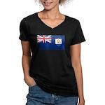 Anguilla Women's V-Neck Dark T-Shirt