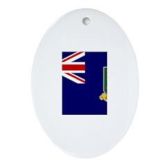 British Virgin Islands Ornament (Oval)