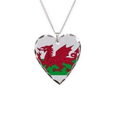 Wales Necklace Heart Charm