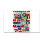 United Nations Fight For Free 22x14 Wall Peel
