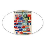 United Nations Fight For Free Sticker (Oval 50 pk)