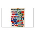 United Nations Fight For Free Sticker (Rectangle)