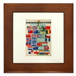 United Nations Fight For Free Framed Tile
