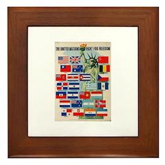 United Nations Fight For Free Framed Tile