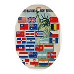 United Nations Fight For Free Ornament (Oval)
