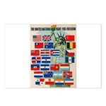 United Nations Fight For Free Postcards (Package o