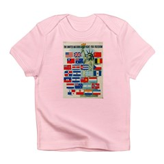 United Nations Fight For Free Infant T-Shirt