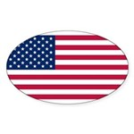 United States of America Sticker (Oval 50 pk)