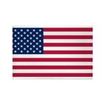 United States of America Rectangle Magnet (100 pac