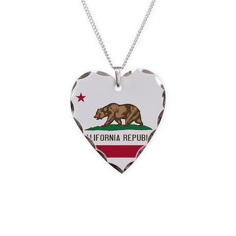 California Necklace Heart Charm