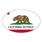 California Sticker (Oval 10 pk)