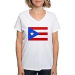 Puerto Rico Women's V-Neck T-Shirt