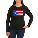 Puerto Rico Women's Long Sleeve Dark T-Shirt