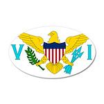 U.S. Virgin Islands 38.5 x 24.5 Oval Wall Peel