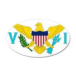 U.S. Virgin Islands 22x14 Oval Wall Peel