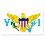 U.S. Virgin Islands Sticker (Rectangle 10 pk)