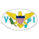 U.S. Virgin Islands Sticker (Oval 10 pk)