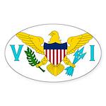 U.S. Virgin Islands Sticker (Oval)
