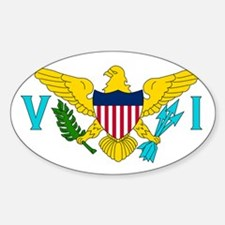 U.S. Virgin Islands Sticker (Oval)
