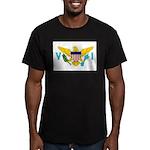 U.S. Virgin Islands Men's Fitted T-Shirt (dark)